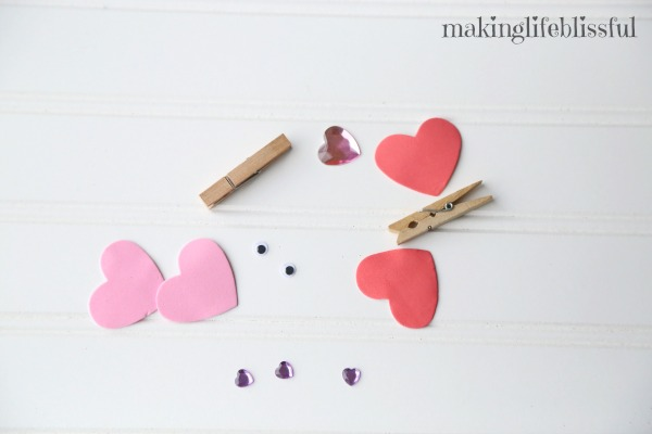 Easy Valentine Clothespin Butterfly Craft
