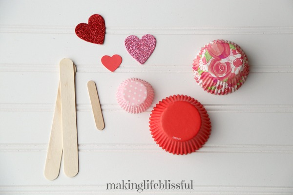 Easy Cupcake Liner Flower Craft for kids to make