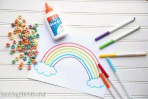Cereal Rainbow Craft 1