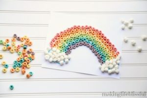 Cereal Rainbow Craft 2