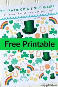 Free Printable St. Patrick's Day Game