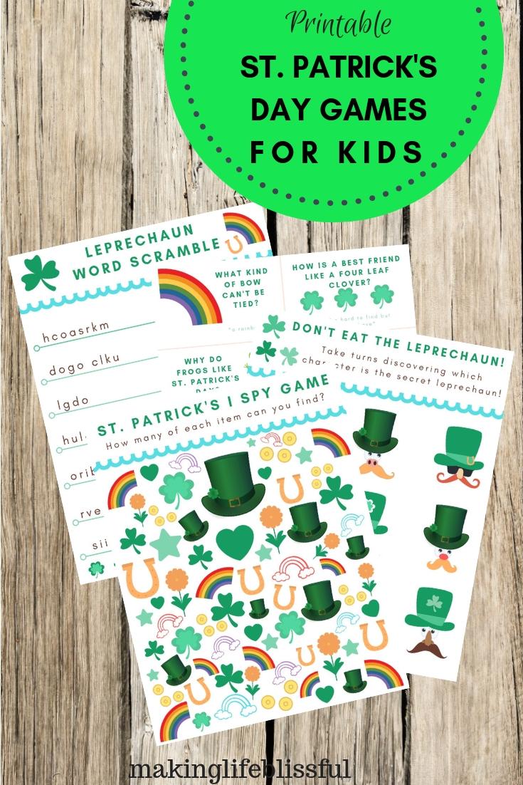 Free Printable St. Patrick's Day I Spy Game
