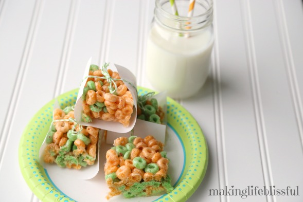 Apple Jacks cereal treats for St. Patrick's Day