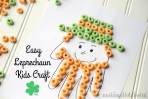 St. Patricks Day Leprechaun Handprint Cereal Craft 10