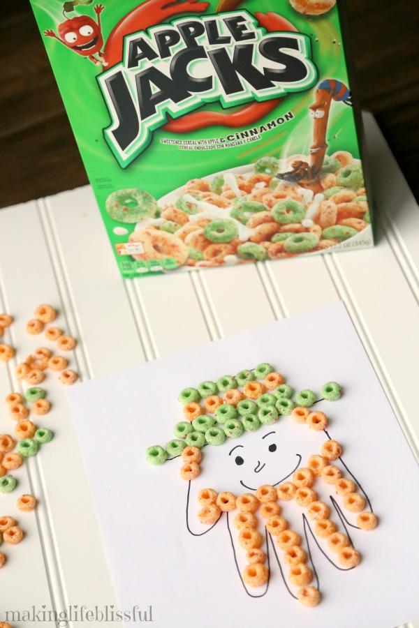 Apple Jacks Leprechaun Craft for St. Patrick's Day
