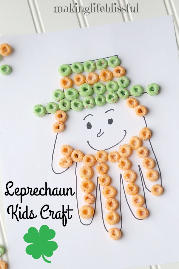 Leprechaun Cereal Craft for Kids