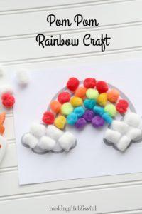 Pom Pom Rainbow Craft for Kids