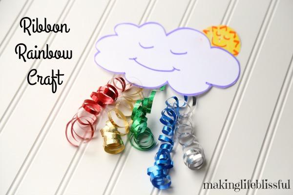Ribbon Rainbow Craft