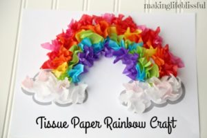 Easy Rainbow Craft for Kids plus Free Printable template