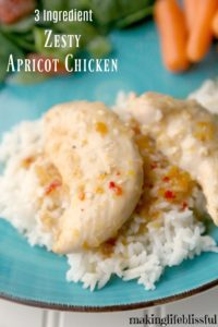 Easy 3 Ingredient Apricot Chicken in the Crockpot