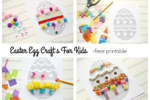 Easter Egg Crafts for kids collage 3 e1552357694394