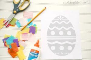 Tissue Paper Easter Craft for Kids