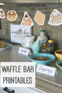 Waffle Party Printables for Kids