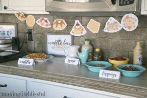 Waffle Party Ideas and Printables