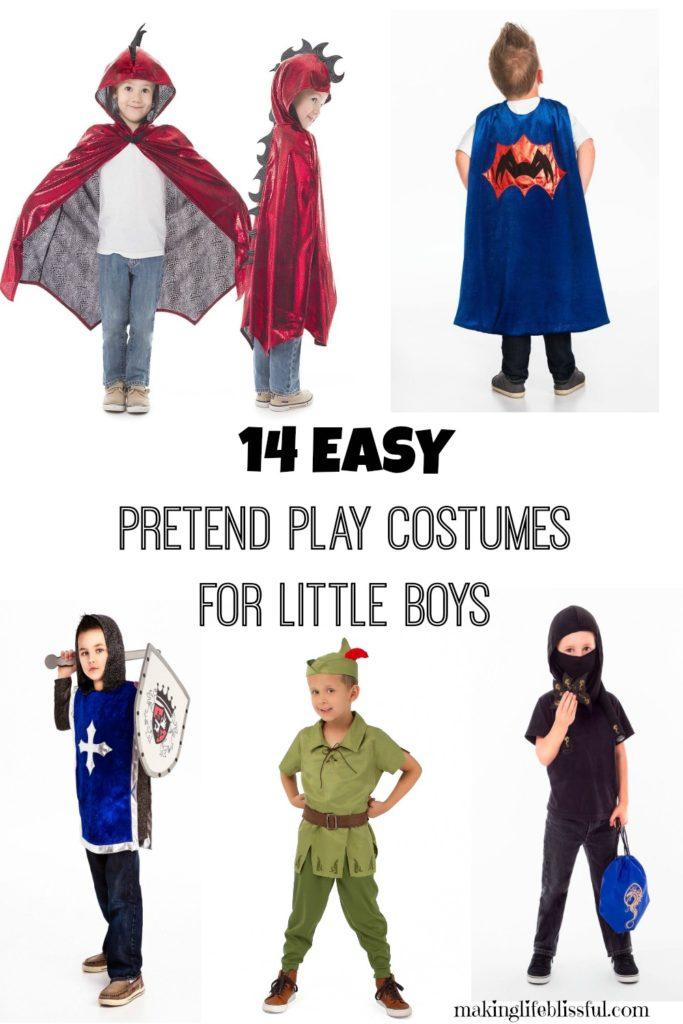 Easy dress up ideas for little boys