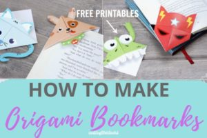 How to make origami bookmarks plus free origami printable