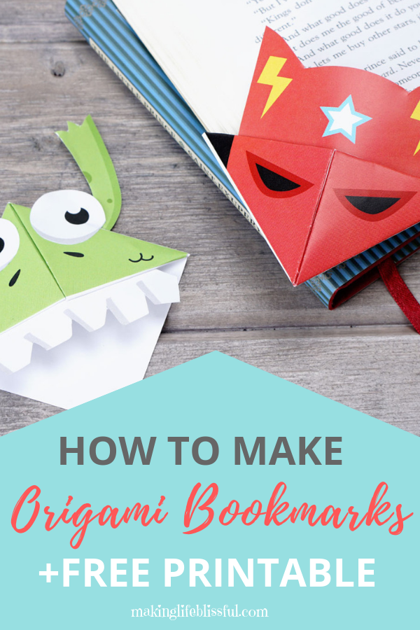 Free Printable Origami Bookmarks and instructions how to make