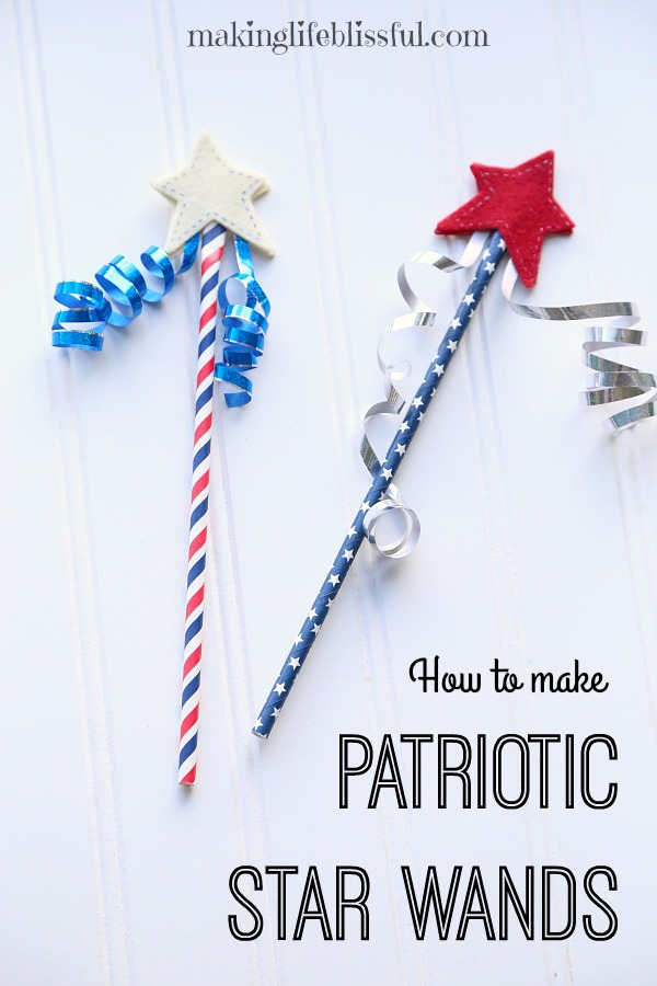 Patriotic Star Wand Craft for 4th of July or Memorial Day