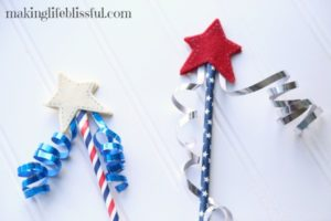 Easy 4th of July star craft wand