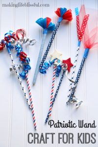 Fun patriotic wands for kids to make for the 4th of July