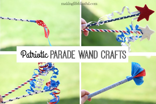 4th of July Parade Wand Craft