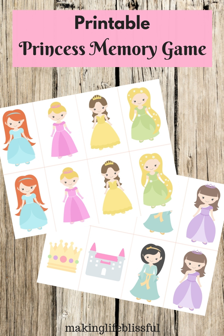 picture regarding Printable Memory Cards named printable-princess-memory-playing cards