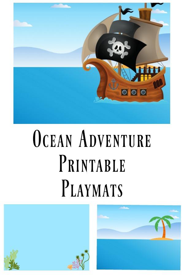 Ocean Adventure Playmat Printable