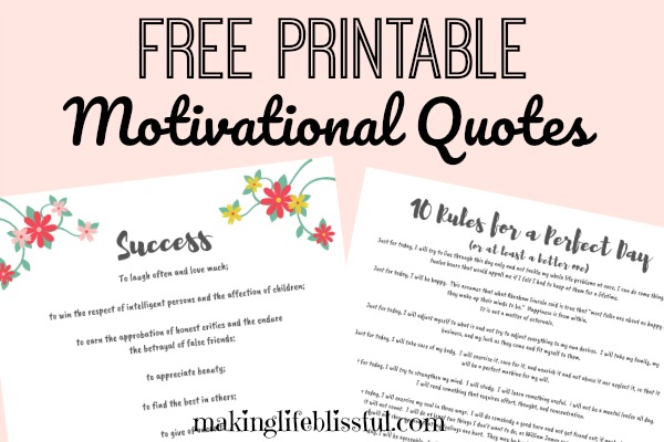 photo about Printable Motivational Quotes named 10 Tips for a Fantastic Working day Free of charge Printable Developing Daily life Blissful