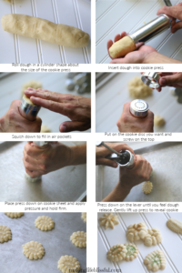 How to load a cookie press for spritz cookies