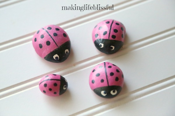 Cute painted rock ideas for kids to make