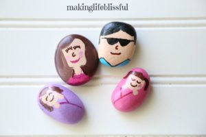 painted rock family