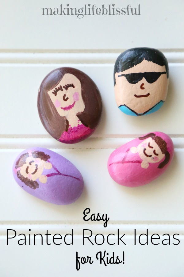 Easy Painted Rock Ideas for Kids