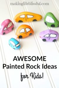 painted rock ideas for kids 2