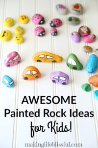 painted rock ideas for kids 3