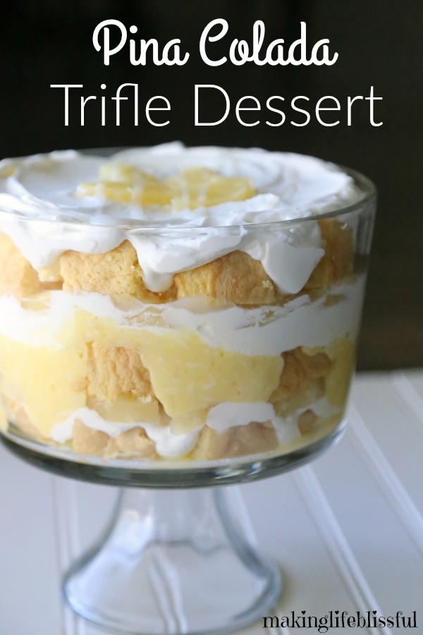 EASY Pina Colada Trifle