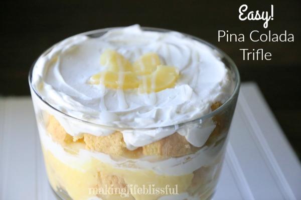 Pina Colada Trifle Dessert