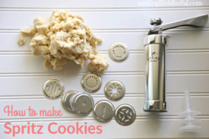 how to make spritz cookies with a cookie press