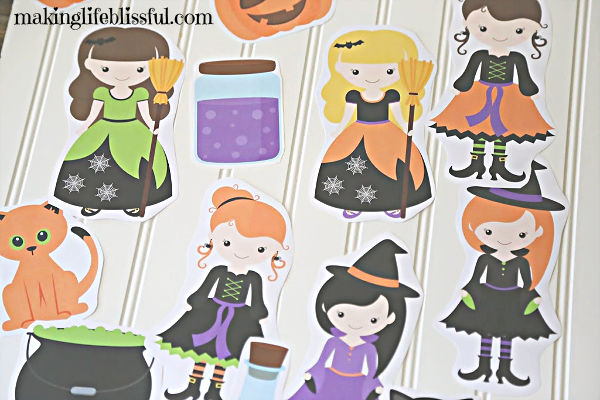 Cute Halloween Witch Printables!