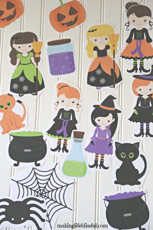 Halloween Witch Party Printable Decorations