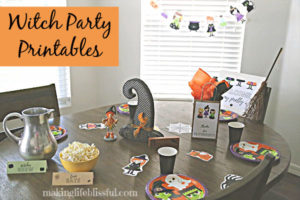 Witches party kids printables