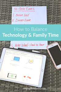balance tech with family