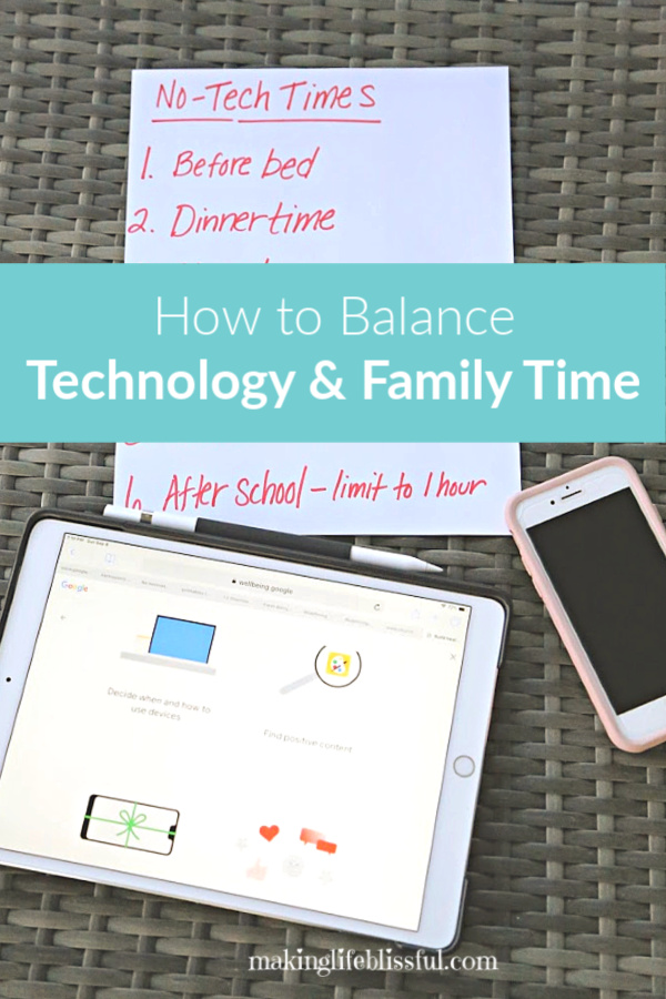 How our family learned to balance technology and family life
