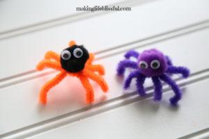 Easy Halloween Spider Craft for kids