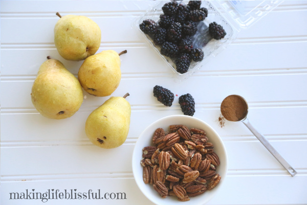Fall Pear Fruit Salad ingredients