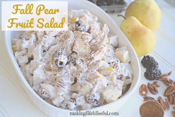 Fall Pear Fruit Salad