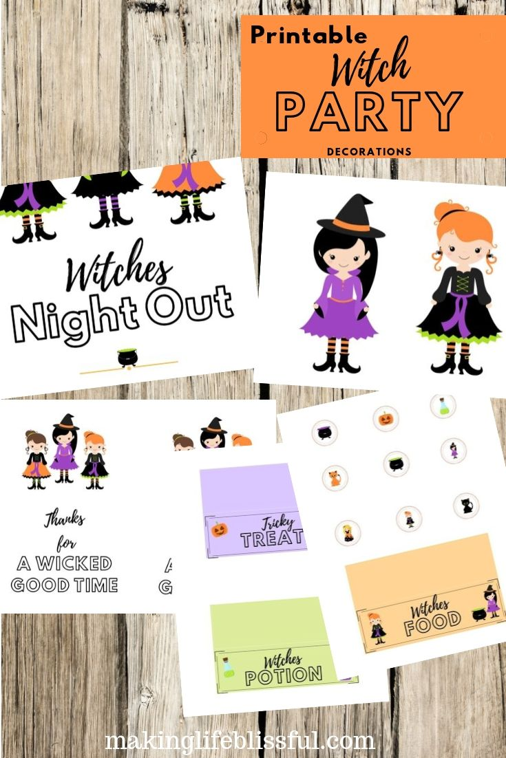 Witches Night Out Printable Bundle