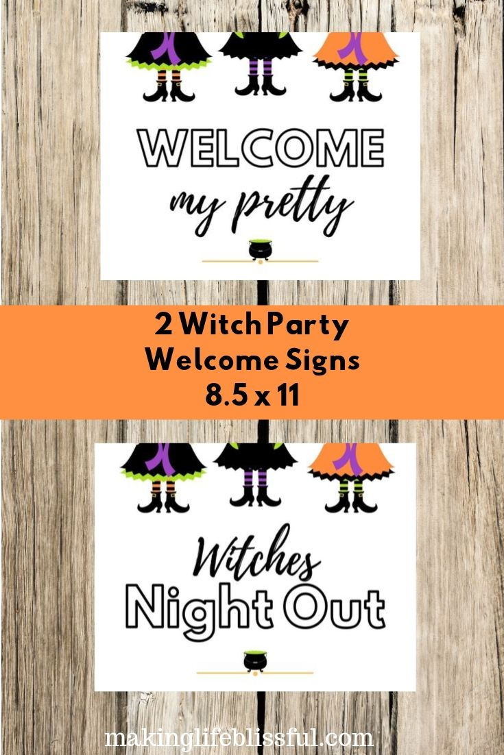 Free Printable Witches Night Out Signs