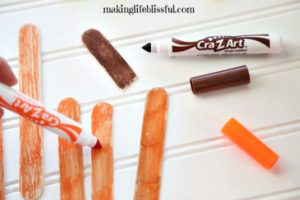 How to make a craft stick pumpkin for kids