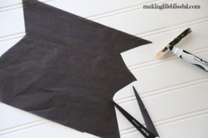 How to make the tissue paper Halloween bat