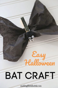 How to make this easy bat craft for kids